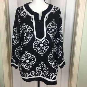 Style & Company Linen Blouse